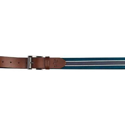 メンズ ゴルフウェア アシュワース Ashworth レザー キャンバス Belt Legion ブルー 40