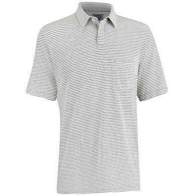 シャツ トップス セーター アシュワース Ashworth Pique ストライプ Pocket ゴルフ Shirt Java ミディアム