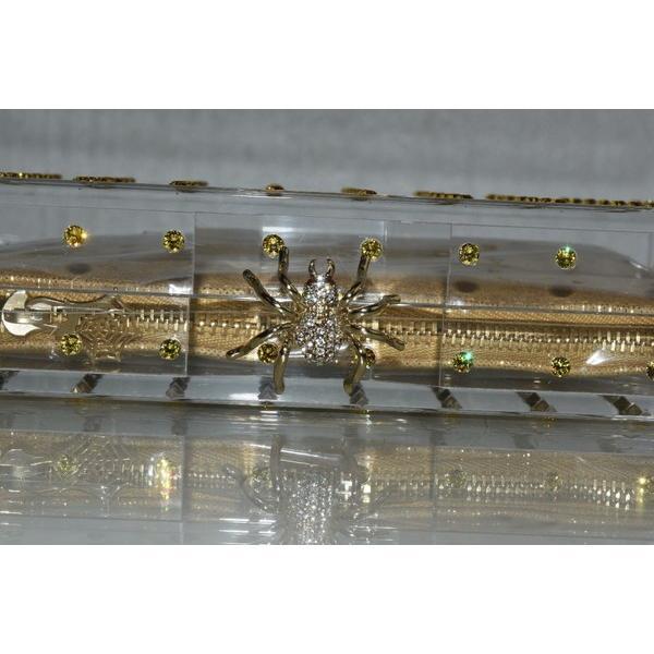 バッグ ハンドバッグ シャーロットオリンピア CHARLOTTE OLYMPIA CACTUS PANDORA Transparent Clutch BAG Crystals ゴールド