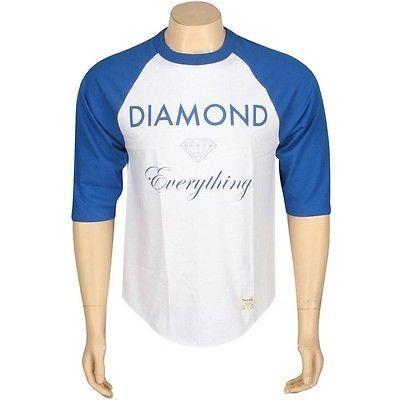 【数量は多】 アスレチック ウェア ダイアモンドサプライ ダイヤモンド Supply Co ダイヤモンド Everything Raglan Tシャツ (royal / ホワイト) B13P417RYWT, サイクルジャパン 98f7603b