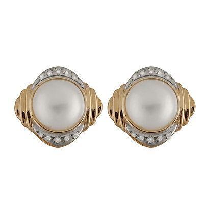 【送料無料/即納】  スプレンディット Pearls イヤリング アクセサリー 14K ゴールド イヤリング ウイズ 13-14ミリ Mabe パール ウイズ 0.20CT ダイヤモンド., ミスターフロントガラス 8c336de8