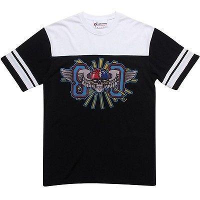 アスレチック ウェア ハンドレッツ The Hund赤s x Grateful Dead Eighty Football Tシャツ (ブラック / ホワイト) L13S101015BLK