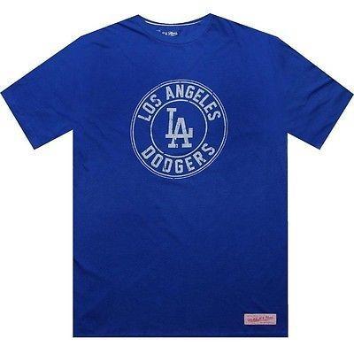 アスレチック ウェアミッシェルアンドネスMitchell And Ness Los Angeles Dodgers 半袖 Tee (royal / クリーム) 3118A-LAD