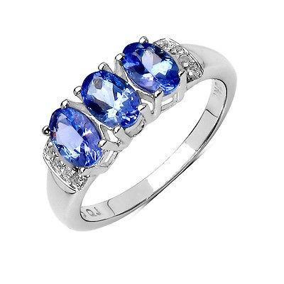 超大特価 ジュエリー ファインリング 宝石 ストーン Olivia Leone Sterling Silver 1 2/5ct Tanzanite and White Topaz Ring, Interior Shop Stir(スティアー) a5e04653
