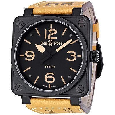 堅実な究極の ベルアンドロス 腕時計 Bell and ベルアンドロス Ross 腕時計 レザー Heritage ブラック ダイヤル Tan レザー ストラップ メンズ 腕時計 BR01-92-HERITAGE, 愛知県:a8d73c08 --- airmodconsu.dominiotemporario.com