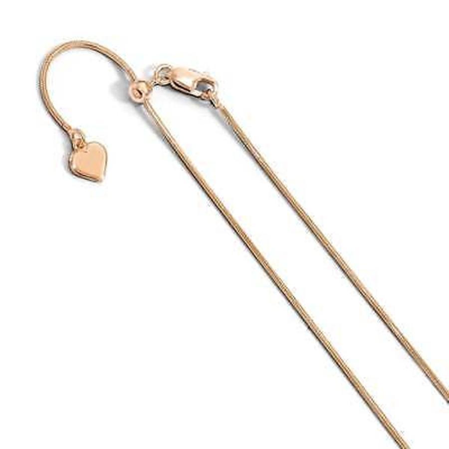 超格安一点 チェーン ネックレス Chain, .95 海外セレクション Sterling Silver .95 Versil mm Rose Gold-plated 22in Adjustable Snake Chain, by Versil, 輸入雑貨アルファエスパス:e1b95abd --- airmodconsu.dominiotemporario.com
