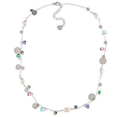 最終値下げ ラプレシオサ パール La Preciosa Sterling Silver FW Pearl and Multi-colored Glass Necklace (7 mm), Studio Route134 20fdbf3c