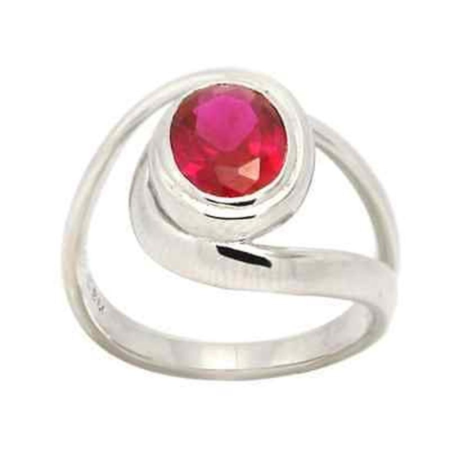 かわいい! ジェムストーン 海外セレクション De Buman Created Ruby Sterling Silver Ring, リフォーム本舗 64d45919
