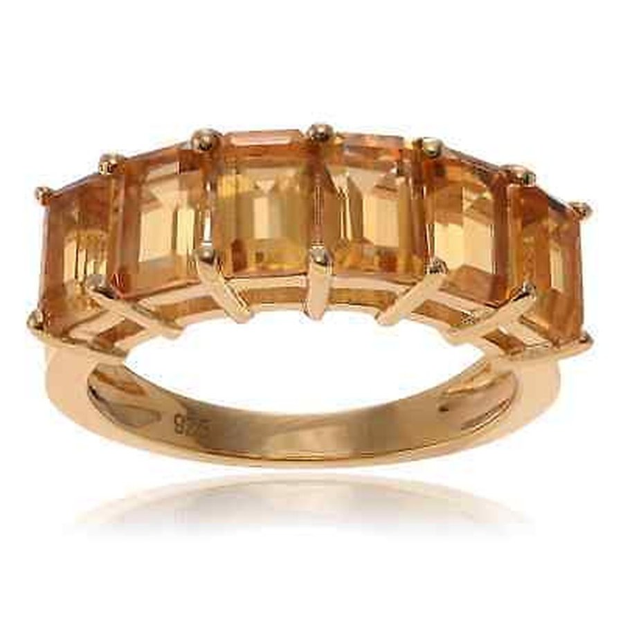 気質アップ ジェムストーン ジャーニーコレクション Journee Collection Goldplated Sterling Silver Citrine Gemstone Ring, BDONLINEストア 0a1449c5