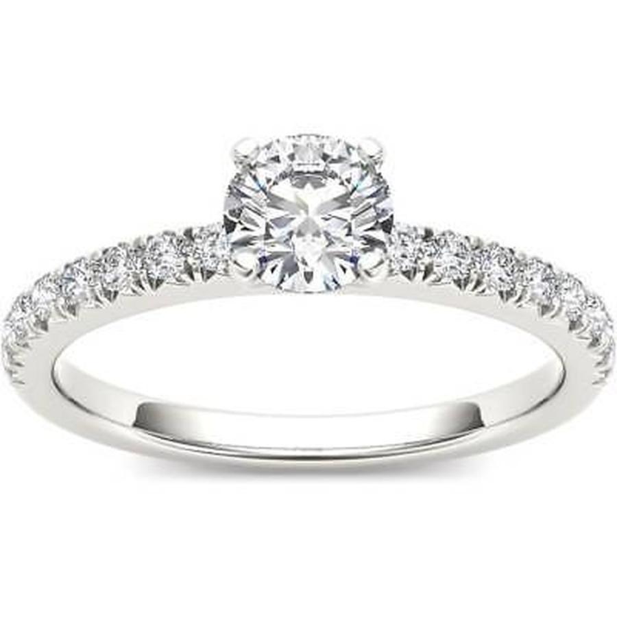 お得セット ドクール De Couer 14k White Gold 3/4ct TDW Diamond Side Stone Engagement Ring, 日本未入荷 46cd44a6