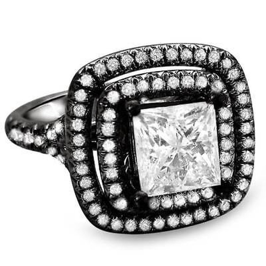 買取り実績  海外セレクション 婚約指輪 Noori 18k Black Black Gold 1 5/8ct 5/8ct Clarity-enhanced TDW Clarity-enhanced Diamond Ring, ハママスグン:5e6f005e --- airmodconsu.dominiotemporario.com