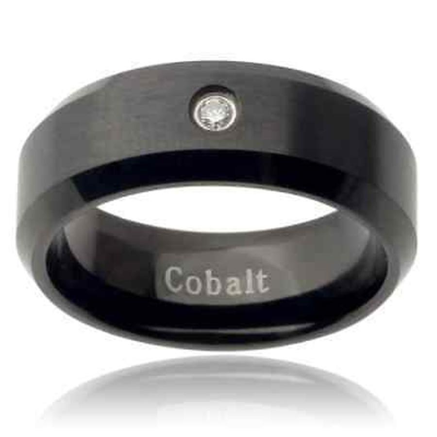 超激安 Vance Co. 海外直輸入ブランドアクセサリー Cobalt Co. メンズ Cobalt ダイヤモンド アクセント バンド バンド (8 mm) ブラック, 着物屋くるり:c731c59a --- airmodconsu.dominiotemporario.com