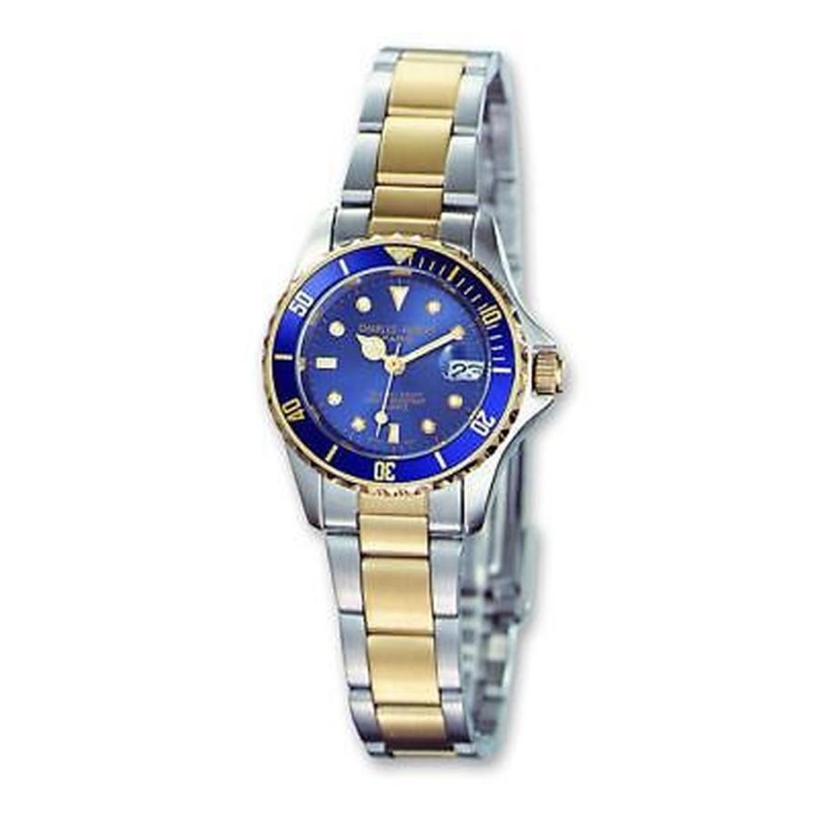 【お買得!】 Charles Hubert チャールズヒューバート Versil レディース Charles Hubert ツートン シルバー ブルー ダイヤル Watch, タイヤスクエアミツヤ 0ea38518