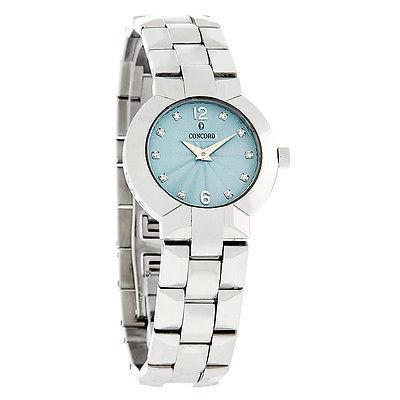 【お買い得!】 腕時計 コンコルド Concord La Scala ダイヤモンド ブルー ダイヤル レディース スイス クォーツ 腕時計 0309741, 富里市 4ce99a4f