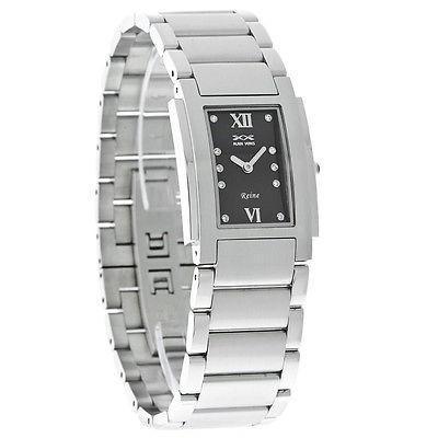 雑誌で紹介された 腕時計 腕時計 アライアンベルス Alain Veres Reine ダイヤル レディース クリスタル ブラック ダイヤル R200SB スイス クォーツ ドレス 腕時計 R200SB, 額縁画材の通販王国ガレリアレイノ:abd19c98 --- chizeng.com