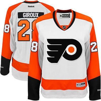 【保証書付】 リーボック アメリカ USA カレッジ 全米 リーグ ホッケー NHL Reebok Claude Giroux Philadelphia Flyers ホワイト Away Premier ジャージ, 愛野町 f6b3a1e6