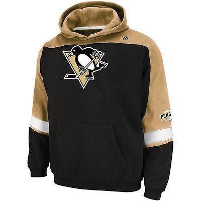 マジェスティック アメリカ USA 全米 リーグ ホッケー NHL Majestic Pittsburgh ペンギンs ブラック ビッグ テール Ice クラシック プルオーバーパーカー