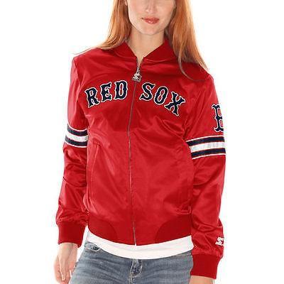 スターター アメリカ USA メジャー リーグ 全米 野球 MLB Starter Boston レッド Sox レディース レッド Blitz Satin フルジップ ジャケット