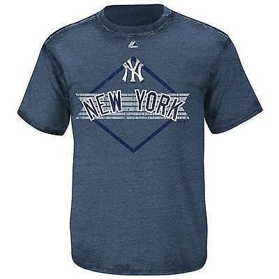 マジェスティック アメリカ USA メジャー リーグ 全米 野球 MLB Majestic New York Yankees ネイビー All For Victory Tシャツ