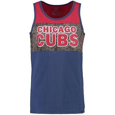 フォーティーセブンブランド アメリカ USA メジャー リーグ 全米 野球 MLB 47 Chicago Cubs ロイヤル/レッド Split Line タンクトップ