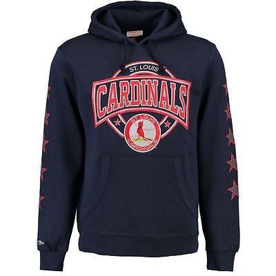 ミッチェルアンドネス アメリカ USA メジャー リーグ 全米 野球 MLB Mitchell & Ness St. Louis Cardinals ネイビー Down to the Wire パーカー