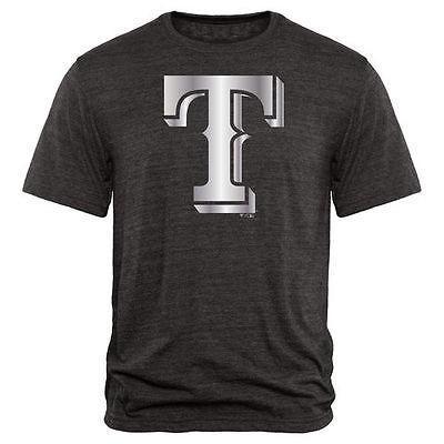 アメリカ USA メジャー リーグ 全米 野球 MLB Fanatics ブランドed Texas Rangers ブラック Platinum コレクション トライブレンド Tシャツ