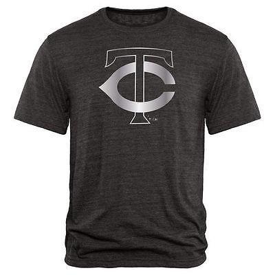 【福袋セール】 アメリカ USA メジャー リーグ 全米 野球 MLB Fanatics ブランドed Minnesota Twins ブラック Platinum コレクション トライブレンド Tシャツ, 防災ショップやしま 288e951c