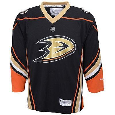 【第1位獲得!】 リーボック アメリカ USA カレッジ 全米 リーグ ホッケー NHL Reebok Anaheim Ducks ユース ブラック Replica Home ジャージ, 旭志村 10097822