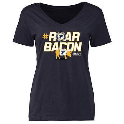 海外バイヤーおすすめ アメリカ USA カレッジ 全米 リーグ ホッケー NHL St. Louis ブルー レディース ネイビー #RoarBacon Tシャツ