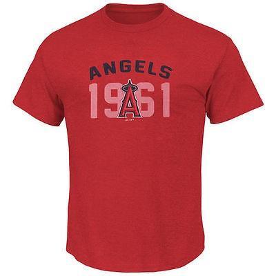 マジェスティック アメリカ USA メジャー リーグ 全米 野球 MLB Majestic Los エンジェルes エンジェルs of Anaheim レッド ビッグ テール Three Base Tシャツ