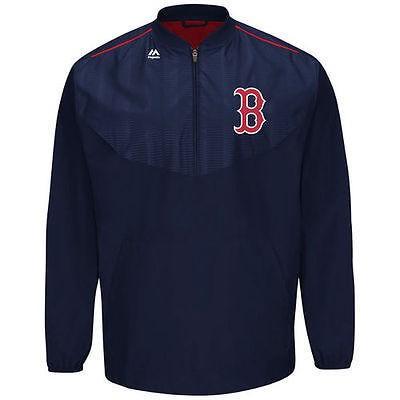 お得セット マジェスティック アメリカ USA Majestic メジャー リーグ レッド 全米 野球 MLB Majestic USA Boston レッド Sox ネイビー On Field Cool Base トレーニング ハーフ-Zip ジャケット, リプリ:f80f1849 --- sonpurmela.online