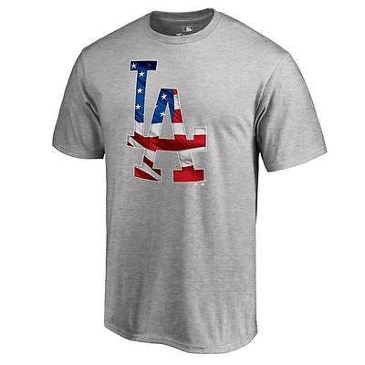 ファナティックス ブランディッド ベースボール MLB 野球 アメリカ USA 全米 ロサンゼルス Dodgers Ash Banner Wave II Tシャツ