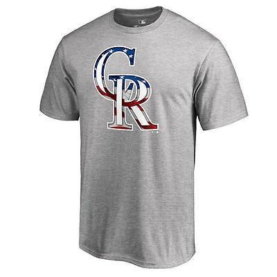 ファナティックス ブランディッド ベースボール MLB 野球 アメリカ USA 全米 コロラド Rockies Ash Banner Wave II Tシャツ