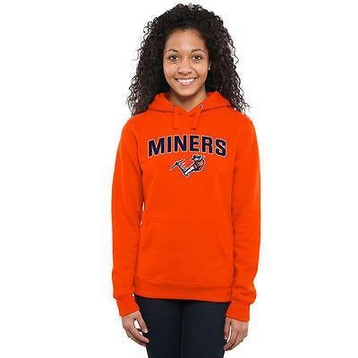 ファナティックス ブランディッド カレッジ 大学 スポーツ NCAA アメリカ USA 全米 UTEP Miners レディース オレンジ Proud Mascot プルオーバーパーカー