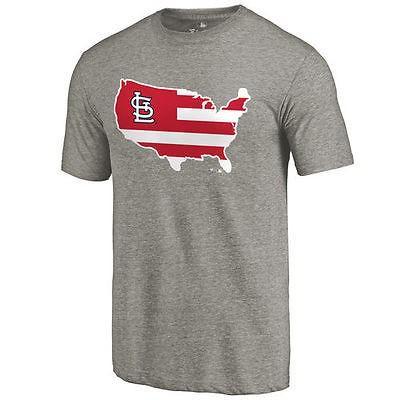 ファナティックス ブランディッド ベースボール MLB 野球 アメリカ USA 全米 St. Louis Cardinals Ash Broad ストライプス Tri-Blend Tシャツ