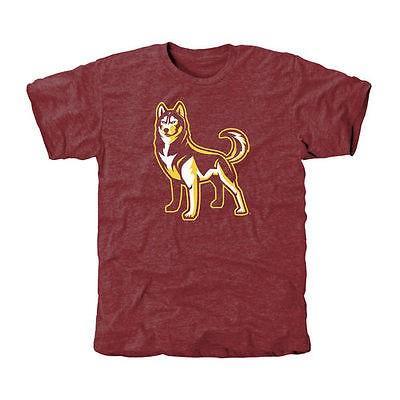 ファナティックス ブランディッド カレッジ 大学 スポーツ NCAA アメリカ USA 全米 Bloomsburg Huskies Maroon Auxiliary Logo Tri-Blend Tシャツ