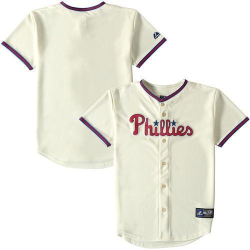 最も  マジェスティック ベースボール MLB 野球 アメリカ USA 全米 Majestic Philadelphia Phillies ユース Tan Replica Player Jersey, リサイクル通販 スリフティ 3f8e15a3