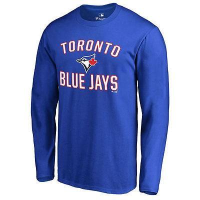 ファナティックス ブランディッド ベースボール MLB 野球 アメリカ USA 全米 Toronto ブルー Jays Royal Victory Arch 長袖 Tシャツ