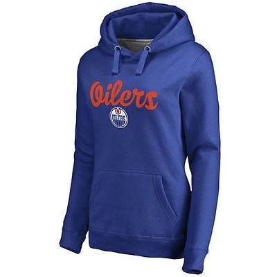 ファナティックス アイスホッケー NHL アメリカ USA 全米 ナショナルリーグ Edmonton Oilers レディース Royal フリー Hand プルオーバーパーカー