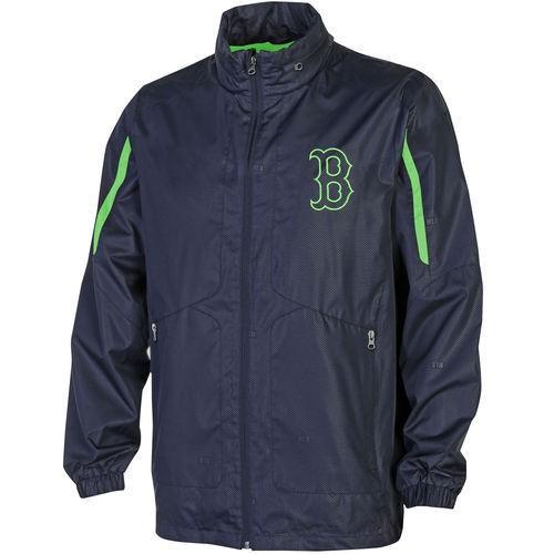 選ぶなら GIII Sports by Carl Banks ベースボール MLB 野球 アメリカ メジャー 全米 レッドソックス RBI ネオン ジップ ジャケット ネイビー ブルー ネオン グリーン, 布団とパジャマ「ふとんハウス」 930ee75b