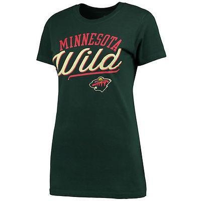 ファナティックスブランディッド ホッケー NHL アメリカ 全米 メジャー Minnesota Wild レディース グリーン Simplicity Tシャツ