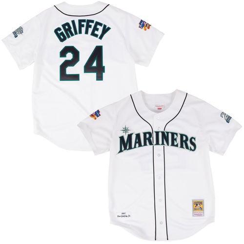 第一ネット ミッチェル ネス ベースボール MLB 野球 アメリカ メジャー 全米 Mitchell Ness Ken Griffey Jr Seattle Mariners ホワイト オーセンティック Jersey, 住宅専門金物卸販売 キザイ本舗 ef956e54