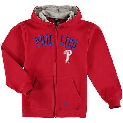 マジェスティック ベースボール MLB 野球 アメリカ メジャー 全米 Majestic Philadelphia Phillies ユース レッド Team ビンテージ Full-Zip Fleece パーカー