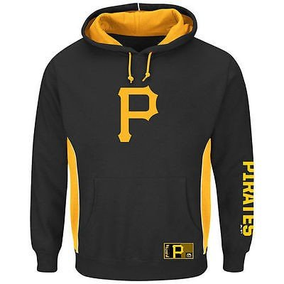 【メーカー直売】 マジェスティック ベースボール MLB 野球 アメリカ メジャー 全米 Majestic Pittsburgh Pirates ブラック Big Tall Stadium パーカー, バラエティ本舗 f1198f3c