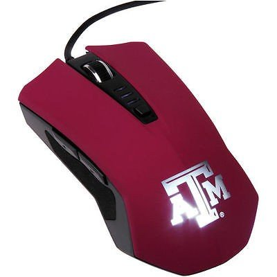 海外セレクション カレッジ NCAA 大学 アメリカ スポーツ USA Texas A&M Aggies Laser LED Mouse - Maroon