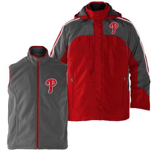 ベースボール MLB 野球 アメリカ USA メジャー G-III スポーツバィカール バンクス Philadelphia Phillies 赤/Gray 4-3 Defense Full Zip Jacket