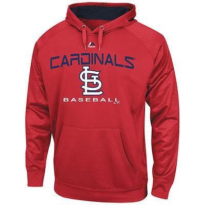 ベースボール MLB 野球 アメリカ USA メジャー マジェスティック Majestic St. Louis Cardinals 赤 2 Cool Synthetic Pullover Hoodie