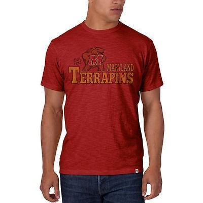ホッケー NHL カナダ アメリカ 北米 USA メジャー フォーティセブン '47 Brand Maryland Terrapins 赤 Scrum Basic T Shirt