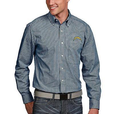 フットボール NFL アメリカ USA 全米 メジャー アンティグア Antigua San Diego Chargers Navy Associate Woven Long Sleeve Button Down Shirt