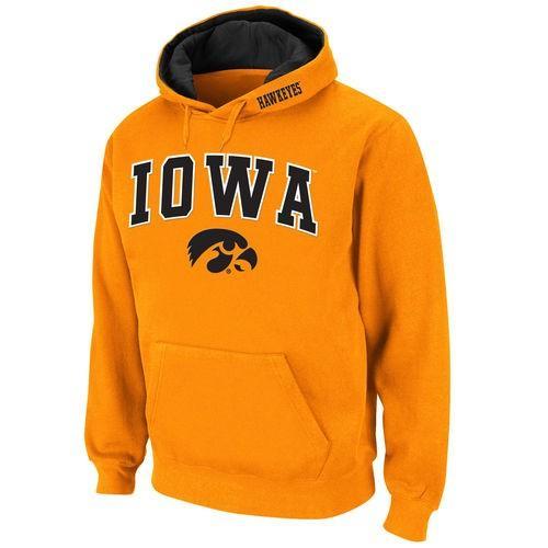 カレッジ NCAA 大学 アメリカ スポーツ USA スタジアムアスレチック Stadium Athletic Iowa Hawkeyes ゴールド Arch & Logo Pullover Hoodie